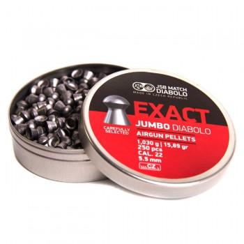 Пульки JSB Exact Jumbo кал. 5,5 мм 1,030 гр (500 шт./бан.) - купить (заказать), узнать цену - Охотничий супермаркет Стрелец г. Екатеринбург