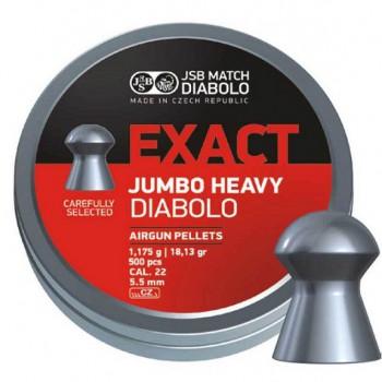 Пульки JSB Exact Jumbo Heavy кал. 5.52 мм  1,175 г (500 шт./бан.) - купить (заказать), узнать цену - Охотничий супермаркет Стрелец г. Екатеринбург