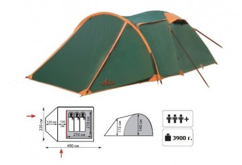 Палатка Totem Carriage (зеленая) - купить (заказать), узнать цену - Охотничий супермаркет Стрелец г. Екатеринбург