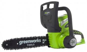 Пила аккумуляторная Greenworks G40CS30, 40V, 30см без АКБ и ЗУ  20117 - купить (заказать), узнать цену - Охотничий супермаркет Стрелец г. Екатеринбург