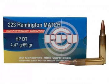 Патрон к.223Rem PPU HPBT 4.47 MATCH (СЕРБИЯ) 1шт - купить (заказать), узнать цену - Охотничий супермаркет Стрелец г. Екатеринбург