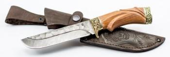 Нож Варяг,ст дам,торц,литье,наборная рукоять из стаб.кар.березы - купить (заказать), узнать цену - Охотничий супермаркет Стрелец г. Екатеринбург