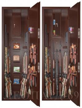 Шкаф оружейный усиленный сейфового типа Леопард-69 цвет медный - купить (заказать), узнать цену - Охотничий супермаркет Стрелец г. Екатеринбург