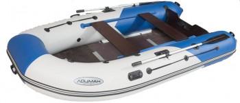 Лодка Лоцман М-330 (киль+слань) белая/синяя - купить (заказать), узнать цену - Охотничий супермаркет Стрелец г. Екатеринбург