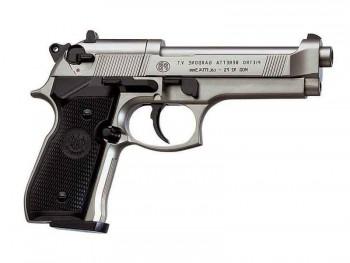 Пистолет пневматический Beretta M92 FS (никель с чёрными пластиковыми накладками) - купить (заказать), узнать цену - Охотничий супермаркет Стрелец г. Екатеринбург