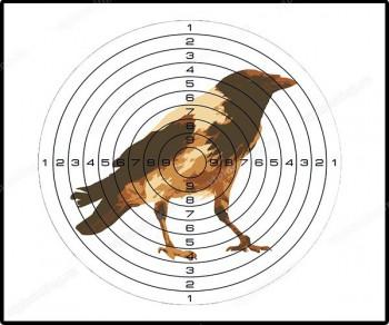 Мишень д/пневматики цветная (рисунок ворона) - купить (заказать), узнать цену - Охотничий супермаркет Стрелец г. Екатеринбург