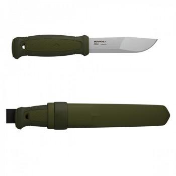 Нож Morakniv Kansbol, нержавеющая сталь, прорезиненная ручка, цвет зеленый+ножны - купить (заказать), узнать цену - Охотничий супермаркет Стрелец г. Екатеринбург
