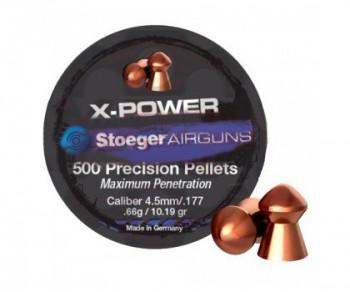 Пуля Stoeger X-Power к.4,5 0,66g 1уп/500шт - купить (заказать), узнать цену - Охотничий супермаркет Стрелец г. Екатеринбург