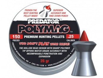 Пульки JSB Predator Polymag кал. 6.35 мм 26 гр 150 шт./бан. - купить (заказать), узнать цену - Охотничий супермаркет Стрелец г. Екатеринбург
