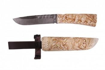 Нож Путник, дам.ст., кость, чехол кость - купить (заказать), узнать цену - Охотничий супермаркет Стрелец г. Екатеринбург