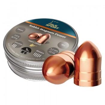 Пуля H&N Rabbit Magnum Power, калибр 5.5, омедненные (200 шт) - купить (заказать), узнать цену - Охотничий супермаркет Стрелец г. Екатеринбург