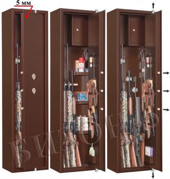 Шкаф оружейный усиленный сейфового типа Бизон-5 цвет медный - купить (заказать), узнать цену - Охотничий супермаркет Стрелец г. Екатеринбург