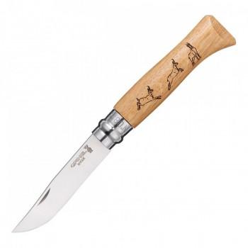 Нож Opinel №8 Animalia, нержавеющая сталь, рукоять дуб, гравировка серна - купить (заказать), узнать цену - Охотничий супермаркет Стрелец г. Екатеринбург