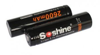 Аккумулятор литий-ионный Soshine 18650 2600mAh 3.7V PCB - купить (заказать), узнать цену - Охотничий супермаркет Стрелец г. Екатеринбург