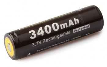 Аккумулятор литий-ионный Soshine 18650 3400mAh 3,7V PCB - купить (заказать), узнать цену - Охотничий супермаркет Стрелец г. Екатеринбург