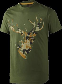 Футболка Seeland T-shirt Camo Stag Bottle Green Melange - купить (заказать), узнать цену - Охотничий супермаркет Стрелец г. Екатеринбург