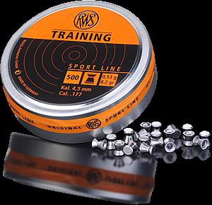 Пуля пневматическая RWS Training 4.5 мм, 0.53г (500шт) - купить (заказать), узнать цену - Охотничий супермаркет Стрелец г. Екатеринбург