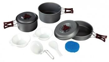 Набор посуды Tramp TRC-024 анодированный алюминий - купить (заказать), узнать цену - Охотничий супермаркет Стрелец г. Екатеринбург