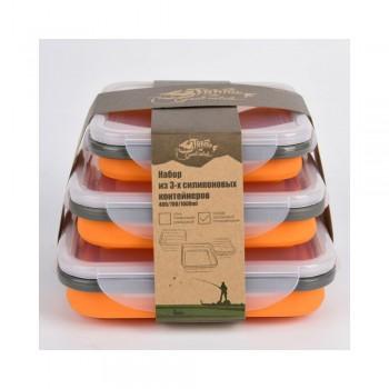 Набор Tramp из 3х  силиконовых контейнеров (силикон, оранжевый ) - купить (заказать), узнать цену - Охотничий супермаркет Стрелец г. Екатеринбург