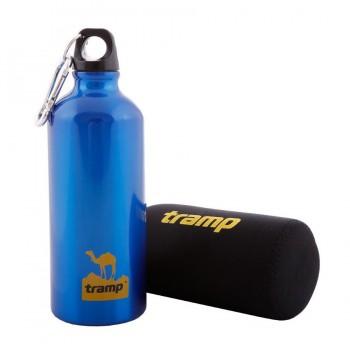 Бутылка Tramp алюминиевая в чехле TRC-033 (0,6л, синий) - купить (заказать), узнать цену - Охотничий супермаркет Стрелец г. Екатеринбург