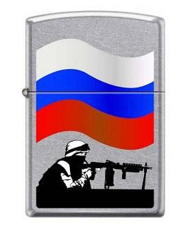 Зажигалка Zippo 207 Защитник отечества - купить (заказать), узнать цену - Охотничий супермаркет Стрелец г. Екатеринбург