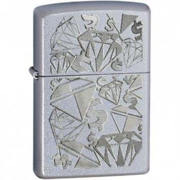 Зажигалка Zippo Diamonds and Dollar 24882 - купить (заказать), узнать цену - Охотничий супермаркет Стрелец г. Екатеринбург