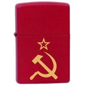 Зажигалка Zippo 233 Серп и Молот на Звезде - купить (заказать), узнать цену - Охотничий супермаркет Стрелец г. Екатеринбург