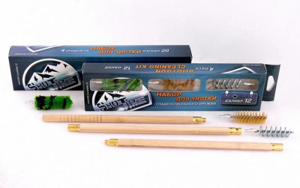 Набор для чистки ShotTime кал.12, для гладк.оружия, деревянный шомпол + 3 ерша - купить (заказать), узнать цену - Охотничий супермаркет Стрелец г. Екатеринбург