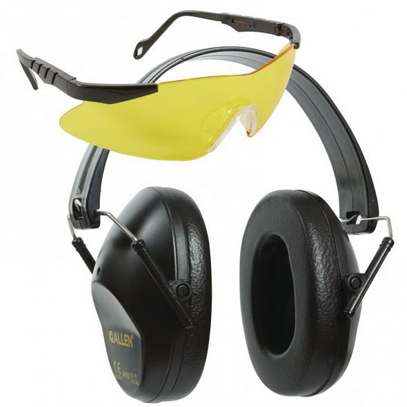 Набор наушники+очки Allen наушники 26дб, линзы очков жёлтые - купить (заказать), узнать цену - Охотничий супермаркет Стрелец г. Екатеринбург