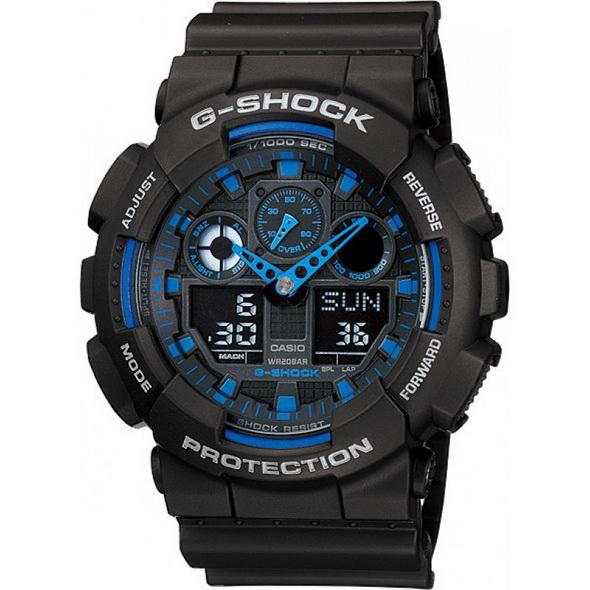 Часы CASIO G-SHOCK GA-100-1A2 - купить (заказать), узнать цену - Охотничий супермаркет Стрелец г. Екатеринбург