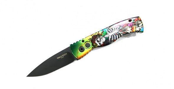 Нож-автомат TR-2 Custom Skull Roses  - купить (заказать), узнать цену - Охотничий супермаркет Стрелец г. Екатеринбург