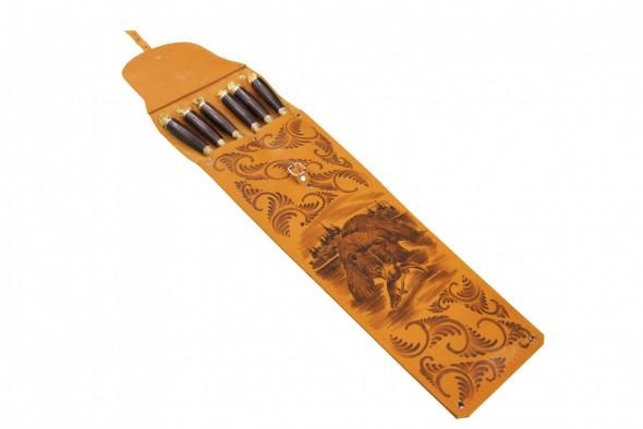 Набор шашлычный НШ-6 ХР (дер грап, лит звери) - купить (заказать), узнать цену - Охотничий супермаркет Стрелец г. Екатеринбург