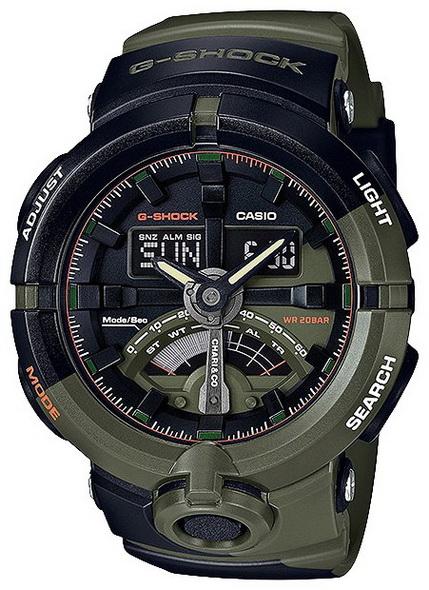 Часы CASIO GA-500K-3A - купить (заказать), узнать цену - Охотничий супермаркет Стрелец г. Екатеринбург