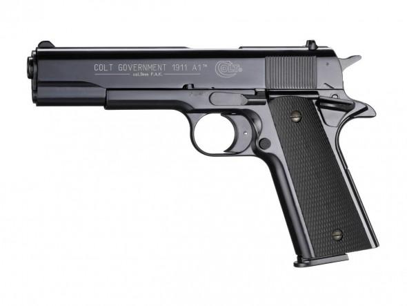 Пистолет пневматический Colt Government 1911 A1 (чёрный с чёрными пластиковыми накладками) - купить (заказать), узнать цену - Охотничий супермаркет Стрелец г. Екатеринбург