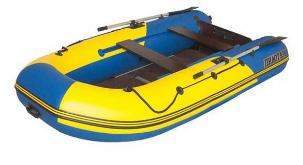 Лодка Пилот М-330 желто-синяя+дно - купить (заказать), узнать цену - Охотничий супермаркет Стрелец г. Екатеринбург