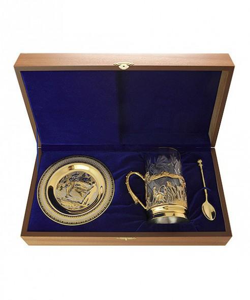 Набор чайный Рыбак ложка/тарелка/хрусталь - купить (заказать), узнать цену - Охотничий супермаркет Стрелец г. Екатеринбург