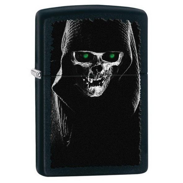 Зажигалка Zippo Hooded Skull 28436 - купить (заказать), узнать цену - Охотничий супермаркет Стрелец г. Екатеринбург